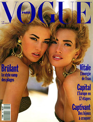 Vogue Paris Juin / Juillet 1990 (Ze Cali Fairy) Tags: fashion magazine model vogue cover frenchvogue vogueparis vp707