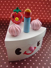 Cute cake box #2 (she.likes.cute) Tags: wood cute face cake strawberry box cream kawaii cram
