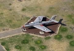 Castle Air Museum Republic F-84F Thunderstreak (Matt Bearup) Tags: california usa history america airplane unitedstates unitedstatesofamerica aerial fromabove atwater boeing bomber fromtheair castleairmuseum