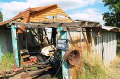 Storage Shed (tantrum_dan) Tags: roof abandoned private tin rust florida farm shed property olympus e500 wauchula tantrumdan tantrumimagery