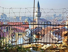 It`s not Iraq (Emilofero) Tags: house fence iron europe minaret iraq mosque bulgaria balkans plovdiv mywinners