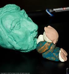 The Matt  Murphy Clay Head Sculpture