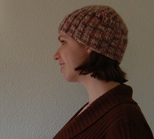 hybrid crochet and knit hat