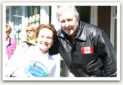 """Penny with former MPP Richard Patten at the Maycourt Hospice walk • <a style=""""font-size:0.8em;"""" href=""""http://www.flickr.com/photos/21584185@N07/2090433472/"""" target=""""_blank"""">View on Flickr</a>"""