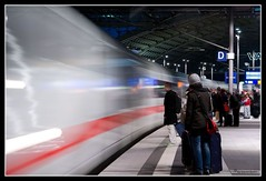 ICE Arriving (daniel.berlin) Tags: longexposure berlin ice train zug explore mainstation zge bewegungsunschrfe langzeitbelichtungen berlinflickr
