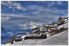 My paradise! (christianmeichtry) Tags: mountain snow alps clouds landscape switzerland cabin europe chalet alp wallis soe valais mayen tatz