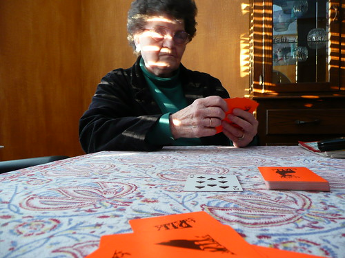 grandma, the card shark