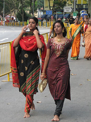 On the phone at Thaipusam (Mimi_K) Tags: mobile singapore phone littleindia devotees pilgrimage thaipusam handphone pilgrims