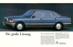 Reklame Mercedes W126 (1986) (jens.lilienthal) Tags: auto old classic cars car vintage advertising reclame ad voiture advertisement mercedesbenz advert older autos werbung mb reklame voitures anzeige sklasse w126