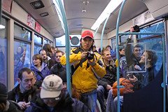Spot the genuine member of the public (Szmytke) Tags: bus public topc25 topv111 scotland topv555 topv333 flickr meetup folk transport topv999 first aberdeen topv777 mrt bendybus mrkael ultranalog kezaroo yinshen americandan smu0108