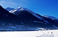 Wintersport (limando) Tags: blue schnee sky snow mountains alps tree forest schweiz switzerland alpen wald wallis langlauf loipe goms betterthangood theperfectphotographer limando