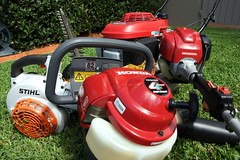 I've got The Power! (damian_white) Tags: yard honda garden lawn sydney australia mower february 2008 blower stihl 2stroke brushcutter hedgetrimmer 4stroke powerequipment bigboystoys whippersnipper