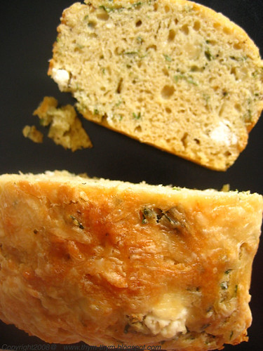 Goat cheese, Cilantro and Cheddar Cake