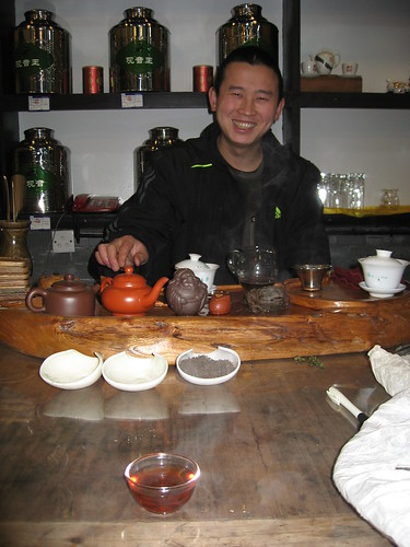 My first (of many) visits to Chinese tea shops