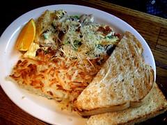 hang-town scramble (sarmillar) Tags: seattle breakfast washington pikeplacemarket pikesplace hangtownscramble