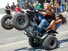 Motorhelmets.com 3rd Annual Bike Event 2007 Stunt Show (Eyeshotpictures) Tags: female action motorcycle atv sportbike stunt wheelie 3way stunters motorhelmets femalestunters eyeshotpictures