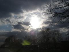 sun through sky