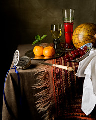 Still Life after Willem Kalf (kevsyd) Tags: stilllife rose globe watch roemer kraak artlibre betterthangood passglass