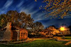 Troy Historic Village (country_boy_shane) Tags: old city longexposure flowers school trees light chimney sky usa cloud house flower building tree green grass night clouds rural photoshop buildings lights for is amazing long exposure mood glow post cs2 shots shane michigan quality detroit barrel troy virtue class historic explore master nightime pro editing diffusion mapping towns tone sidewalks hdr orton patience manfrotto yuppies cabins wankers gorski cs3 canon30d canonefs1022mmf3556usm pixelroom