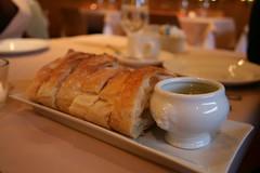 warm bread and oilve oil