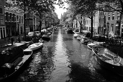 Amsterdam Canals black&white (Shiratski) Tags: city blackandwhite bw holland netherlands amsterdam painting canal zwartwit schilderij canals mokum grachten zw bloemgracht flowercanal amsterdamzwartwit
