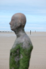 'Another Place' the Antony Gormley figures, Crosby Beach