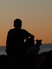 Silhouette at Sunset (frazz46) Tags: sunset dog silhouette vancouverisland grandson chapeau soe bccanada supershot goldenphotographer acg1stplacewinner explore2008 achallengeforyou multimegashot agcg