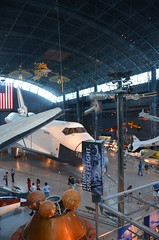 Steven F. Udvar-Hazy Center: Space exhibit panorama (Space Shuttle Enterprise)