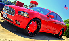 Red Charger (Tre' The Truth) Tags: pink blue red orange white black green ford beach silver benz myrtlebeach texas ninja flames southcarolina houston motorcycles bikes camaro chevy harleydavidson bmw dodge r1 suzuki m3 bigwheels charger slab atlanticbeach r6 gxr rollingshot blackbikeweek huyabusa forgiato d3100 nikond3100