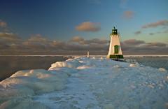 Port Dalhousie Lighthouse 0080 - 1200 (Mark Shephard) Tags: winter sunset ontario canada lakeontario stcatherines portdalhousie