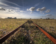 Rusty Tracks (lowbattery) Tags: grass train sussex track rusty dungeness hdr romney romneymarsh southeastcoast