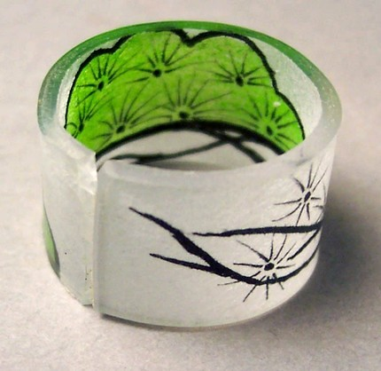 Green Pine Tree Ring : Asian iCandy Store, Unique Asian Arts and Gifts From Independent Artists :  ring japanese jewelry asianicandy