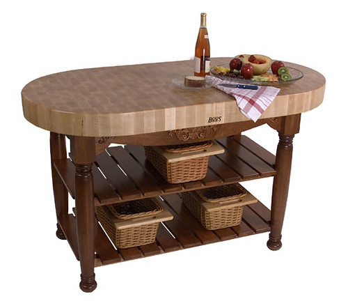 Harvest Table in Warm Cherry Finish