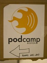 PodCamp Sign