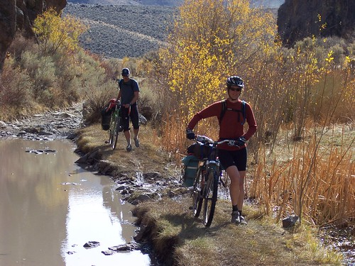Skirting a Mudhole in High Rock Canyon