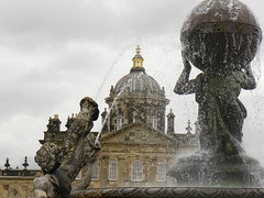 The Atlas Fountain (Canadian Pacific) Tags: england house castle home fountain john hall estate evelyn britain howard yorkshire centre united great north kingdom dome atlas british block baroque sir manor grounds malton waugh stately revisited vanbrugh brideshead