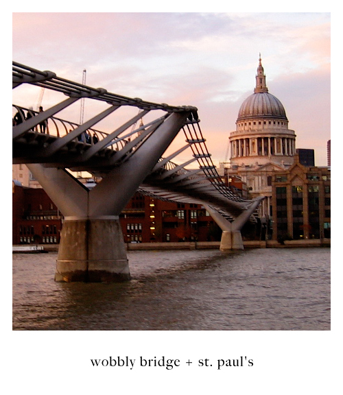 Wobbly Bridge + St. Paul
