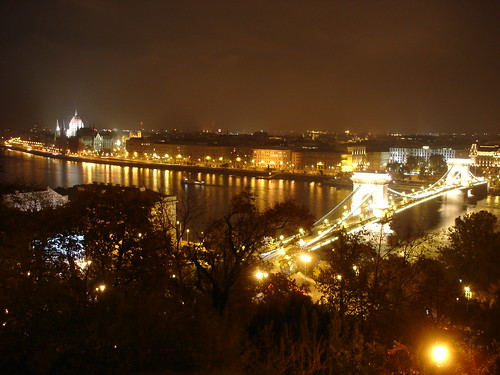 Budapest. Night view from Castle (Buda)