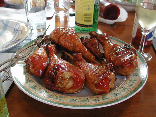 Smoked Turkey Legs with a Satsuma Glaze