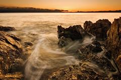 Golden Landscape (Tbatty) Tags: ocean longexposure sunset contrast landscape high rocks waves juan wideangle strait victoriabc fuca lucisart sigma1020mm exposureblend finlaysonpoint