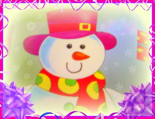 HAPPY CHRISTMAS SNOWMAN by pinklady6...