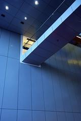Bridge to backstage area (d.lindholm) Tags: architecture modern aluminum sweden uppsala concerthall ukk nikon18200mm nikond40x uppsalakonsertochkongress uppsalaconcerthall