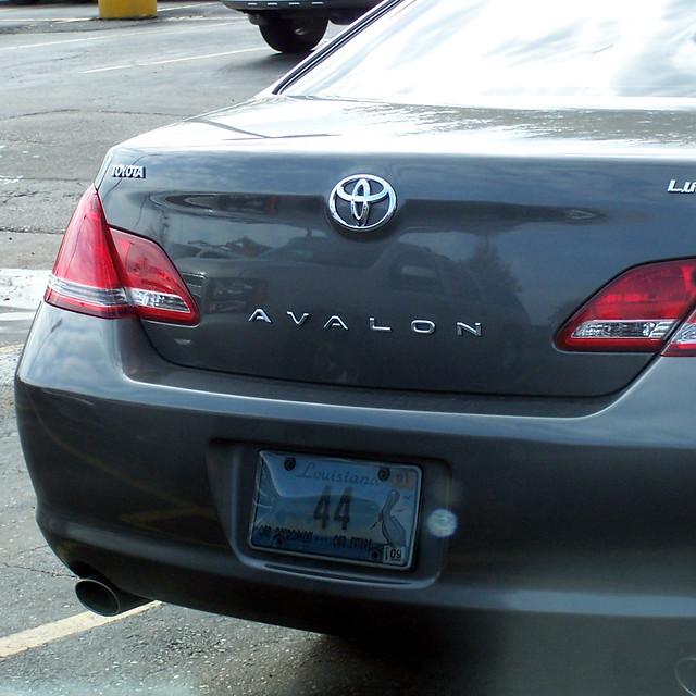 auto louisiana automobile lafayette tag gray plate licenseplate toyota avalon 44 2007 3686 environmentaleducation specialtyplate