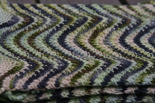 Color pattern on the scarf