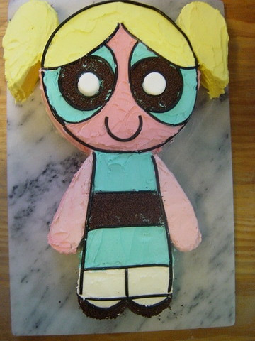 Power Puff Girl cake