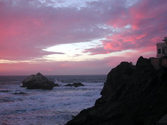 Seal Rock (chet3) Tags: sunset cliff rock clouds travels san francisco seal homer oceanbeach odyssey cliffhouse sealrock