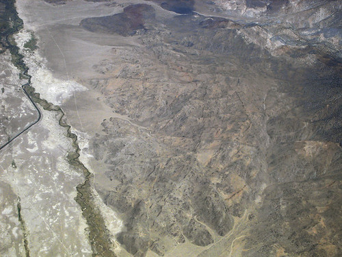 Above Mazourka Canyon, Inyo Mountains, and Owens Valley, California