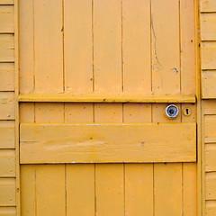 square yellow hut (mark e dyer) Tags: door beach yellow handle coast norfolk wells hut coastal wellsnexttosea markdyer markedyer