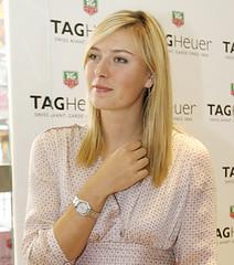 Maria Sharapova presented her TAG Heuer watch (Maria S Forever) Tags: maria tag sharapova heuer