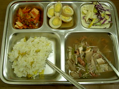 why i love lunchtime (SuzQuz) Tags: lunch korea seoul tray preschool cafeteria